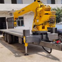 3吨—10吨各种小型平板随车吊按需 订购工程拉钢筋专用车