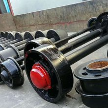 矿车轮对 铸钢空心矿车轮对 可定做煤矿专用矿车轮对