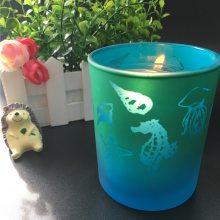 创意玻璃烛台电镀烛台烛杯磨砂电镀烛台