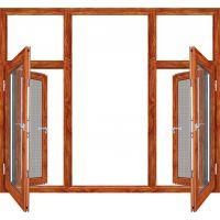 厂家直销金刚一体窗断桥铝防盗纱窗一体窗