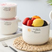 商务礼品定制可加LOGO 可加热的陶瓷保鲜碗 礼盒包装