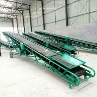 600mm带宽沙子输送机 12米长移动式输送机 袋装黄豆输送机价格