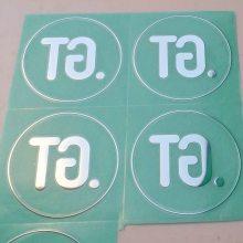 深圳专业制作电铸金属标贴,超薄镍标,镍片,金属标签LOGO,银箔字