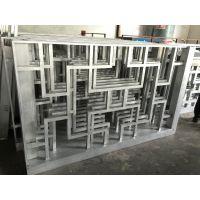 园林装饰木纹铝护栏,仿古凉亭造型挂落造格