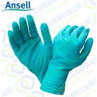 西安 安思尔Ansell92-600绿色丁腈橡胶手套食品餐饮电子制药一次性化学品与液体防护手套防滑