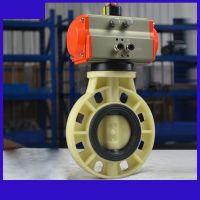 D671X-10S 气动PVC对夹蝶阀 垂直式NBST品牌