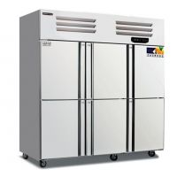 睿弘六门双温冰箱 BRF6六门不锈钢冷柜 商用厨房冰箱