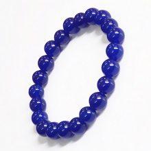 厂家批发 天然青金石手链 8mm圆珠颗粒海蓝水晶能量串珠手链手串