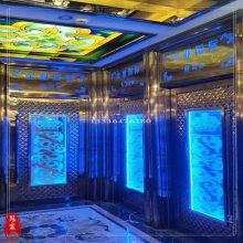 批发宝石蓝包厢门板 KTV不锈钢门板 玫瑰金不锈钢压花门板