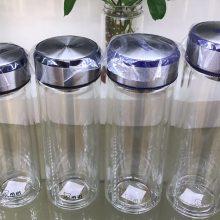 西安大容量双头玻璃杯带盖礼品杯团购 床层玻璃杯带提绳茶水分离泡茶杯订购