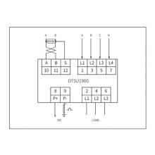 供应爱博精电DTSU1900三相四线电子式电能表,非常适合紧凑空间使用