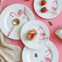 西洋宫廷复古餐盘 欧式热带陶瓷盘 家用陶瓷餐具 意大利面盘