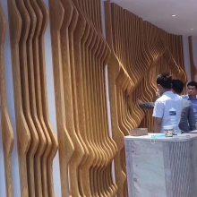 体育馆弧形铝方通 酒吧装饰波浪形铝方通材料