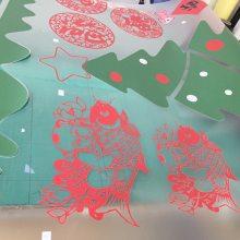 圣诞玻璃贴纸定制异形彩白彩节日橱窗玻璃贴定制