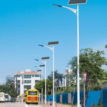 6米LED路灯杆 8米常规太阳能灯杆单双臂12米锥形挑臂灯杆生产厂家