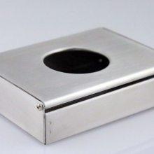 厂家不锈钢纸巾盒长方形抽纸盒可挂式卫生纸盒餐厅餐巾纸收纳盒