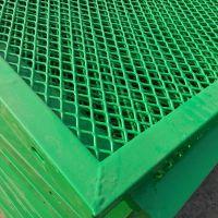 菱形防抛网厂家镀锌桥梁围栏网高速钢板网护栏