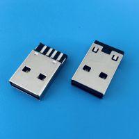 USB AM黑胶正反插焊线公头/4PIN/L=19.6mm/双面插