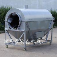 宏鑫全自动滚筒炒货机 300斤芝麻电加热炒货机厂家 定做不锈钢炒货机