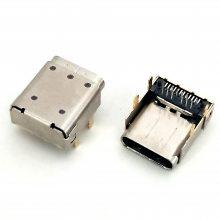 24P-C型垫高3.4mm TYPE-C加高母座 固定脚DI