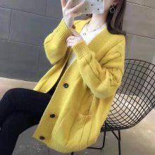 金华尾货市场 品牌女装折扣 长款毛衣外套 哈尔滨外贸服装批发
