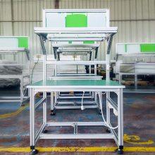 上海厂家定做防静电工作台 电子操作台定制 浙江带灯架抽屉装配台