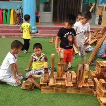 幼儿园炭烧积木 儿童构建区积木玩具 益智积木玩具厂家批发
