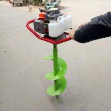 大棚立柱打眼机/方便好操作的手推式挖坑机/春季果园补栽打孔机
