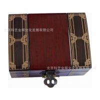 供应纯金生肖纪念币木盒 生肖币木盒 五牛图木盒 彩色图案实木盒