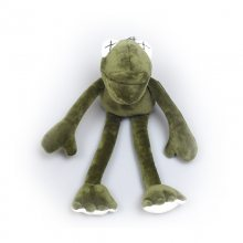 芝麻街网红长腿丑青蛙挂件公仔钥匙扣女抖音恶搞毛绒ins书包挂饰 加工定做