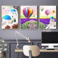客厅装饰画组合挂画沙发背景墙画北欧风格风景壁画浪漫爱琴海墙画