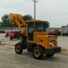 多用途养殖场上料装载机抓草机 全新轮式沙土石子装卸铲车 前卸式铲车