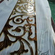 酒店别墅铜板铝板雕刻K金镜面屏风欧式风格屏风