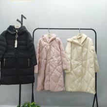 阿莱贝琳19上海设计师羽绒服长款品牌折扣女装尾货 品牌折扣女装加盟招商