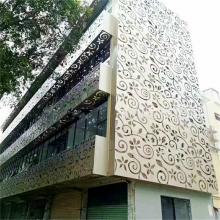 包柱镂空铝板装修装饰_德普龙门头镂空铝板报价