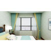 拼接窗帘布艺与色彩的奇妙联想,让家里美上天!93㎡现代北欧两居软装全案