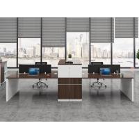 河北办公家具职员办公桌简约现代电脑桌新款4人屏风工位