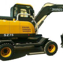山重轮式75W挖掘机厂家大促销