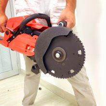 3.5KW机动双向异轮锯 肩背手提式汽油切割机 双轮无齿锯