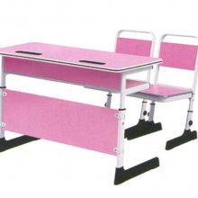 佛山市港文家具双人位升降课桌椅,厂家价格,钢木学生课桌椅