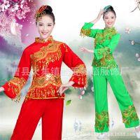 秧歌服2018新款中老年现代舞广场舞套装民族舞蹈服装演出服成人女
