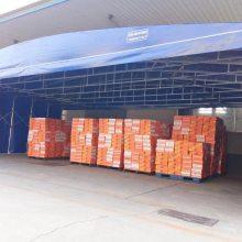 移动推拉棚 推拉雨棚 活动仓库 移动篷房 大排档移动棚 物流移动棚杭州定做厂家在哪里