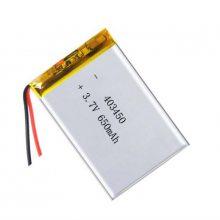 深圳厂家直销聚合物锂电池,美容仪器锂电池403450-650mah