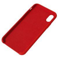 厂家直销定制苹果iPhone X XS Max XR液态硅胶真超纤三包手机保护套手机壳 高档出口品质