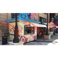 街区特色小商品售货亭设计制作 个性化时尚百货饰品礼品售货亭