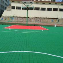 甘肃室外篮球场悬浮地板/幼儿园拼接地垫/户外防滑拼装式运动地板