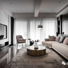 龙湖尘林间装修,尘林间大平层装修完工实景案例,尘林间现代风格设计