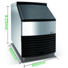 艾雪ST-150酒吧制冰机 自动进出水系统 60公斤日产量 自制酒吧冷冻啤酒方冰块