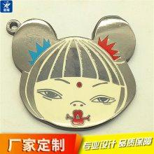 专业定制礼品珐琅钥匙扣金属钥匙挂件定做 人物头像礼品配饰