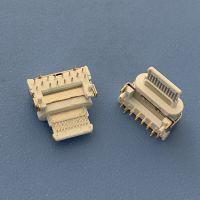 TYPE C 16P侧立式插板母座 白胶 快充5A高频插座 USB 3.1 16P/90度侧插母座